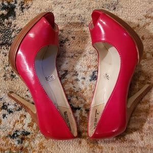 Mossimo Supply Co. Shoes - Red Patent Leather Heels